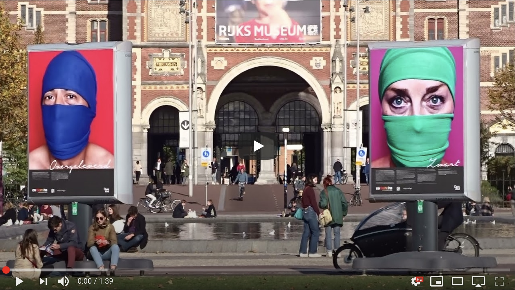 Screenshot van filmpje over tentoonstelling op Museumplein over criminele uitbuiting