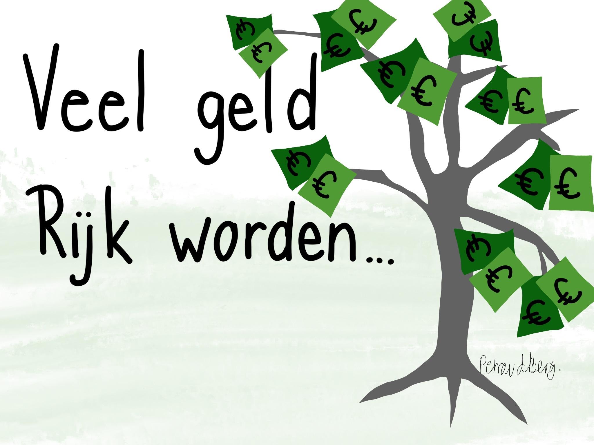 boom met geldbiljetten